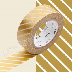 MT MASKING TAPE 15mm x 10m MOTIF RAYE OR