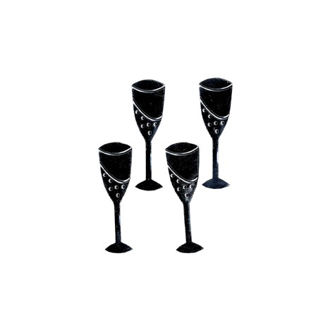 4 SILH METAL CHAMPAGNE