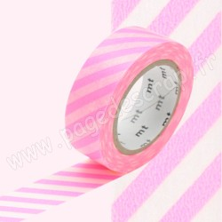MT MASKING TAPE 15mm x 10m MOTIF RAYURES SHOCKING PINK