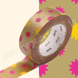 MT MASKING TAPE 15mm x 10m MOTIF SOLEILS OR
