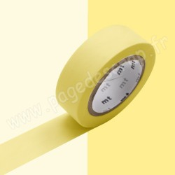 MT MASKING TAPE PASTEL JAUNE 15mm x 10m