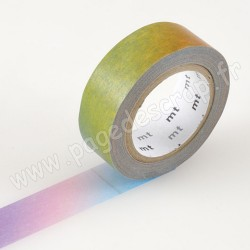 MT MASKING TAPE 15mm x 10m DEGRADE MULTICOLORE