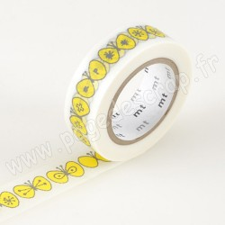 MT MASKING TAPE MINA 15mm x 10m MOTIF PAPILLON CHOUCHO YELLOW