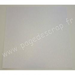 DOCRAFTS FEUILLE PAILLETEE OPAL OPULANT 30 cm x 30 cm