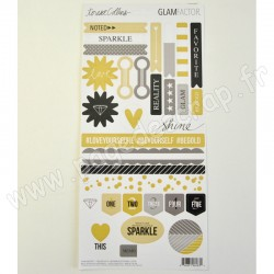 TERESA COLLINS GLAM FACTOR DECORATIVE STICKERS 31 pièces