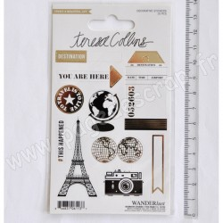 TERESA COLLINS WANDERLUST DECORATIVE STICKERS