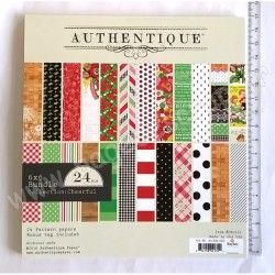 AUTHENTIQUE PAPER COLLECTION CHEERFUL 15 cm x 15 cm 24 feuilles