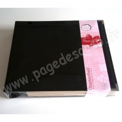 DOCRAFTS PAPERMANIA ALBUM PHOTO CHESTERFIELD A ANNEAUX 30 cm x30 cm