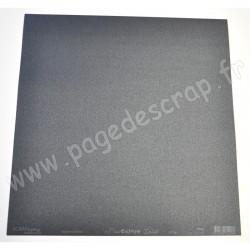 SCRAPBOOKING ADDICT PAPIER NOIR IRISE LISSE BASICOLORS 125 gr 30.5 cm x 30.5 cm