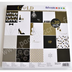 ARTEMIO SET PAPIER 40 pages GOLD 30.5 cm x 30.5 cm 100 gr