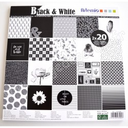 ARTEMIO SET 40 pages BLACK & WHITE 30.5 cm x 30.5 cm 100 gr