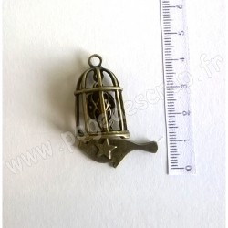 SCRAPBERRY'S CHARMS BIRDCAGE WITH A PENDANT 29 x 45 mm