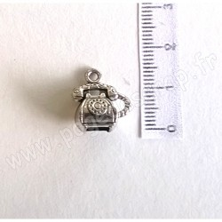 SCRAPBERRY'S CHARMS RETRO TELEPHONE SILVER 12 x 15 mm
