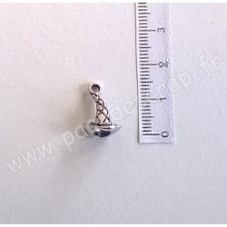 SCRAPBERRY'S CHARMS WITCH HAT SILVER 9 x 16 mm