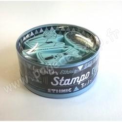 ALADINE STAMPO KDO ETHNIC 4 tampons + 1 encreur