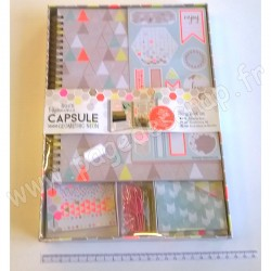 DOCRAFTS SCRAP BOOK SET CAPSULE GEOMETRIC NEON
