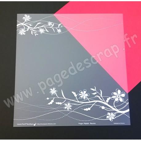 LAURA PACK PAGE PRIPLAK FLEURS 30.5 cm x 30.5 cm