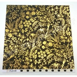 MY MIND'S EYE YES PLEASE GOLDEN FLORAL 30.5 cm x 30.5 cm