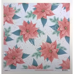 KAISERCRAFT CHRISTMAS WISHES PINK POINSETTIA 30.5 cm x 30.5 cm