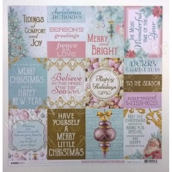 KAISERCRAFT CHRISTMAS WISHES CHRISTMAS CARD 30.5 cm x 30.5 cm