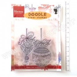 MARIANNE DESIGN CLEAR STAMPS DOODLE CHRISTMAS DECORATION