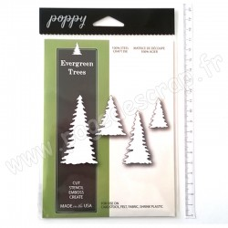 POPPYSTAMPS EVERGREEN TREES