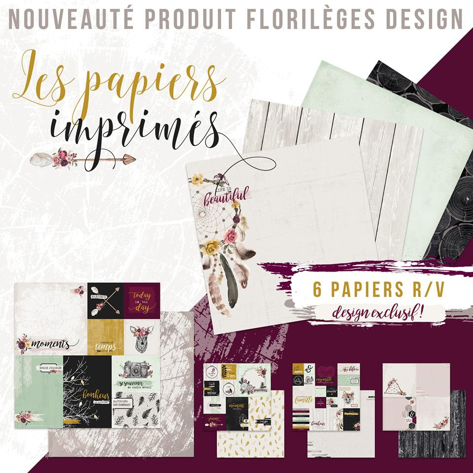 papiers florilèges design