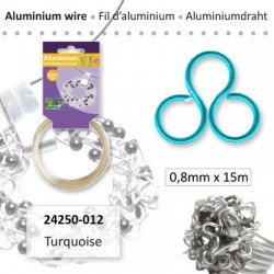 ALU WIRE 0.8MM 15M TURQUOISE