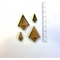 PDS SUJET BOIS FLIPETTES TRIANGLES 3 mm COLLECTION FLIPETTES 4 pièces