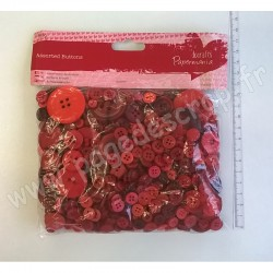 DOCRAFTS PAPERMANIA BOUTONS ASSORTIS (250gr) ROUGE