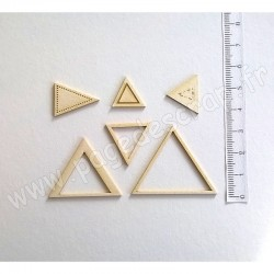 PDS SUJET BOIS FIN TRIANGLES 1 mm COLLECTION FORMES