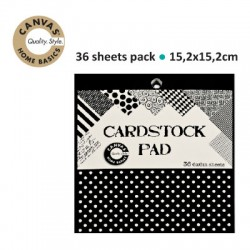 CANVAS CORP CARDSTOCK 15.2X15.2 BLACK&IVORY