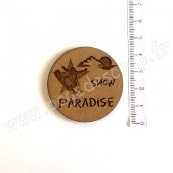 PDS SUJET BOIS SNOW PARADISE COLLECTION SKI