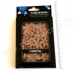 FLORILEGES DESIGN FLORIPETAL FLEURS EN PAPIER CAPPUCCINO 40 pièces