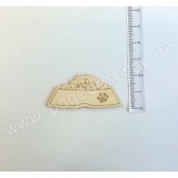 PDS SUJET BOIS FIN 1 mm GAMELLE DE CROQUETTES COLLECTION ANIMAUX