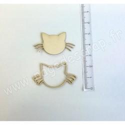 PDS SUJET BOIS FIN 1 mm CHAT DETOURE COLLECTION ANIMAUX