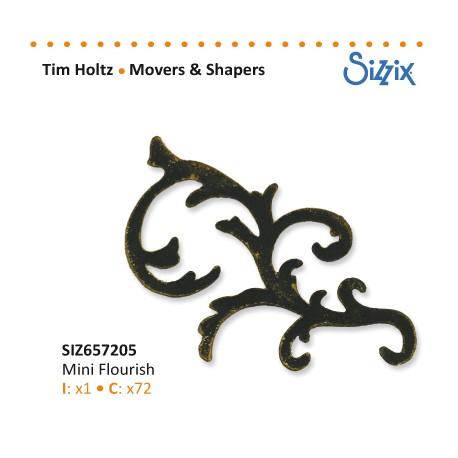 SIZZIX TIM HOLTZ MOVERS & SHAPERS DIE MINI FLOURISH
