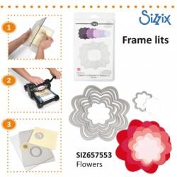 SIZZIX FRAMELITS DIE SET 7 PK FLOWERS