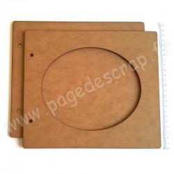 PDS ALBUM BOIS 22 x25 cm OVALE