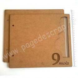 PDS ALBUM BOIS 22 x25 cm PROFIL 9 MOIS