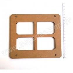 PDS CADRE BOIS 17 x 15 cm HOME DECO 4 FENETRES
