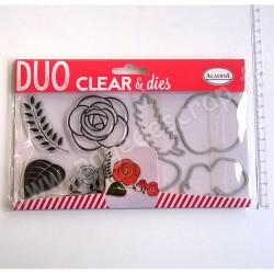 ALADINE DUO CLEAR + DIE CUT ROSE
