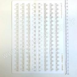 PDS SUJET PAPIER DENTELLE FRISES 1   2 x 4  pièces