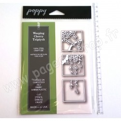 POPPYSTAMPS WEEPING CHERRY TRIPTYCH