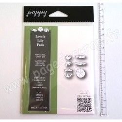POPPYSTAMPS LOVELY LILY PADS