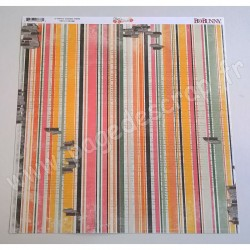 BO BUNNY ARYIA'S GARDEN STRIPE 30.5 cm x30.5 cm