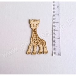 PDS SUJET BOIS FIN 1 mm GIRAFE COLLECTION NAISSANCE