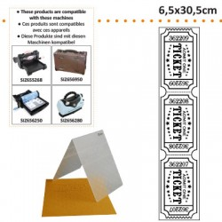 EMBOS TEMPLATE 6.5X30.5CM TICKET