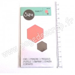 SIZZIX FRAMELITS DIE SMALL HEXAGONS 2 outils