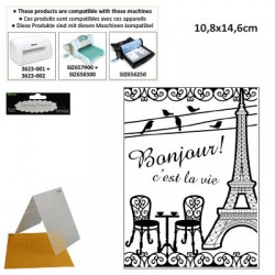 EMBOS TEMPLATE 10.8X14.6CM FRENCH BISTROT